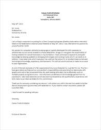 amazing cover letter in response to job posting 70 for your cover