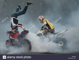 freestyle motocross shows kazan russia 15th july 2014 motocross riders perform stunts