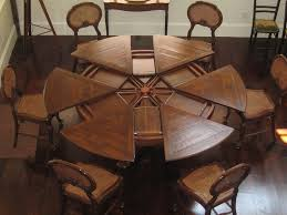 expandable wood dining table the great expanding round dining table homesfeed