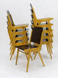 Stacking Chairs Design Ideas Up To 12 Austro Chair Stacking Chairs By Franz Schuster Wiesner