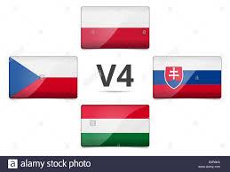 Slovak Flag V4 Visegrad Group Summit Czech Republic Poland Slovakia