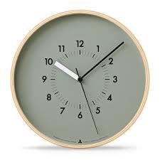 wand uhr designuhr mit echtholz awa clock soso grau von lemnos