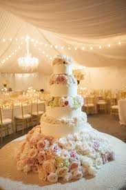 5 Tier Wedding Cake Florals Hydrangea Roses French Quarter Wedding