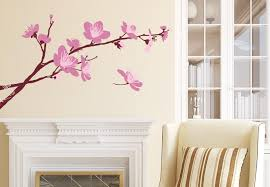 cherry home decor cherry blossom branch 02 wall decal beautiful floral vinyl decor