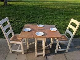 Oak Drop Leaf Dining Table Vintage Rustic Oak Drop Leaf Dining Table 2 Large Oak Chairs