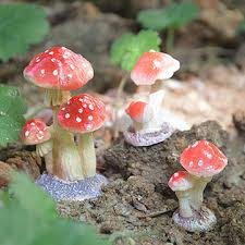 favorable mini toadstool garden ornaments ideal for plant