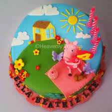 heavenly d u0027lights peppa pig birthday cake