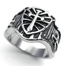 stainless steel mens rings vintage ring jewelry stainless steel ring cross sword