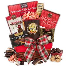 christmas gift baskets deck the halls gift basket by gourmetgiftbaskets