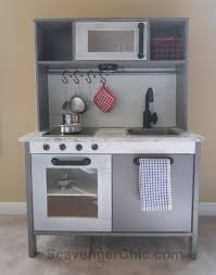 ikea kitchen cabinet touch up paint ikea play kitchen hack with a shiplap backsplash