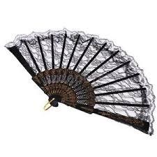 black lace fan vintage folding fan black lace fan fancy dress hen