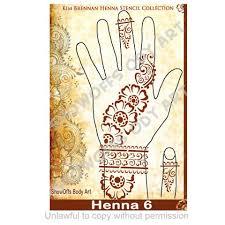 henna stencil 6 henna stencils and products