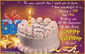 happy birthday cards for son u2013 gangcraft net