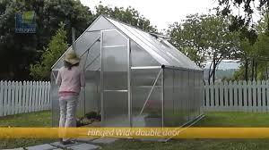 Palram Hybrid Greenhouse Palram Essence 8x12 Greenhouse Kit Silver Hg5812 Youtube