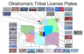 Usa License Plate Map by Guide To The 31 Unique Indian Tribal License Plates Of Oklahoma