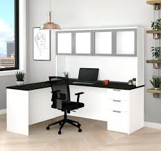 White L Shaped Desk With Hutch Modern L Shaped Desk Pysp Org