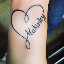26 best infinity with names heart tattoos for women images on