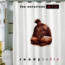Shower Curtain 36 X 72 Notorious Biggie Shower Curtain By From Holidayshowercurtain On