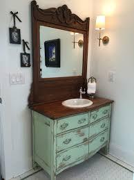 Old Dresser Bathroom Vanity Bathroom Vanity From Antique Dresser We Find Restore Convert