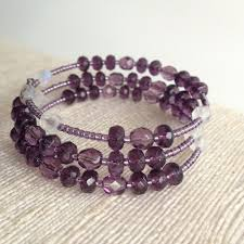 purple wrap around a rosary five decade rosary bracelet
