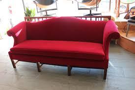 Chippendale Loveseat Chippendale Velvet Camelback Sofa
