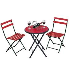 Folding Patio Furniture Set by Gym Equipment Outside Bistro Patio Table Chair Set Folding