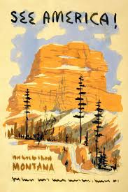 Montana how to travel for free images 69 best montana images vintage travel posters jpg