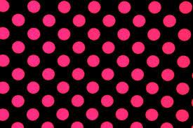 spandex world polka dots black pink