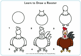 learn to draw a rooster website has other farm animals horse