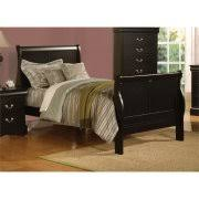 Black Leather Sleigh Bed Leather Sleigh Beds
