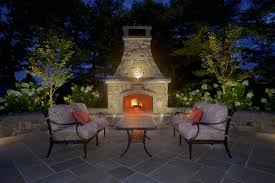 bluestone patio and outdoor fireplace madison nj rusk