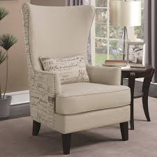 High Back Accent Chair Modern Script Design Curved High Back Accent Chair Free