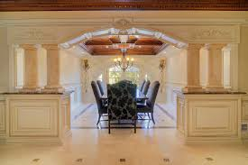 open dining room with columns decor