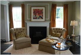 Living Room Layout With Fireplace by Living Room Design Elegant Interior In White Restrained Pops Of