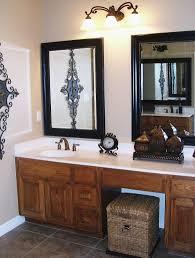 bathroom excellent black framed bathroom mirror ideas using old