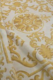Gold Rugs Contemporary Contemporary Rug Patterned Wool Silk Pompadour Gold