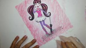 drawing draculaura rita monster high copic markers youtube