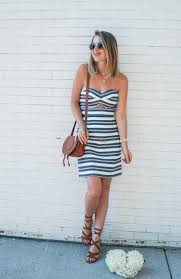 summer striped dress in cape cod oh so glam