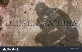 ex machina meaning deus ex machina latin phrase meaning stock photo 481385479