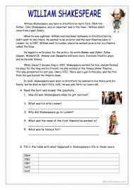 30 free esl shakespeare worksheets