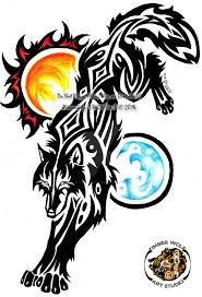 c revamp wolf of the sun n moon tribal by i whitefire i on