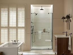 k 707546 l revel frameless pivot shower door kohler