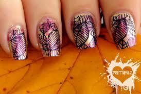 prettyfulz fall nail art design 2011