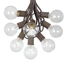 Patio String Lights by G50 Patio String Lights With 125 Clear Globe Bulbs U2013 Outdoor