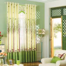 curtains fresh green tree patterns buy window curtains poly