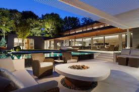 houses with cozy quiet and relaxing backyard pools interior designs