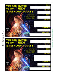 free star wars the force awakens invitation u0026 thank you card