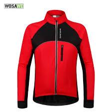 thermal cycling jacket wosawe thermal cycling jackets winter warm up bicycle clothing
