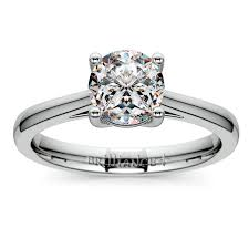 palladium engagement rings cathedral solitaire engagement ring in palladium