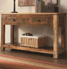 Reclaimed Wood Console Table Pottery Barn Table Griffin Reclaimed Wood Console Pottery Barn With Regard To